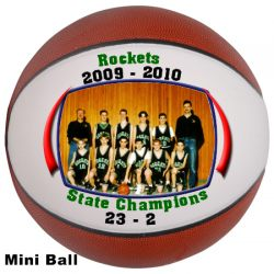 Photo Basketballs Mini Size Example