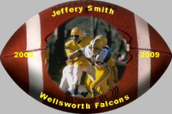 Football Photo Magnet Example