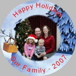 Button Photo Ornament - 3 inch Example