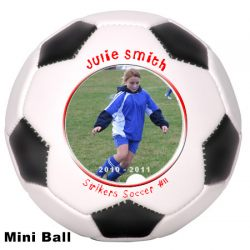 Photo Soccer Ball Mini Size Example