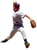 Wall Stickers Example. (baseball wall cling, wall cut-out, wall sticker, wall decal)