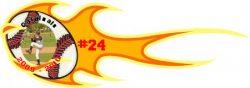 Flaming Wall Pennants Example