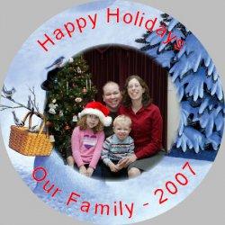 Button Photo Ornament - 3 inch Example