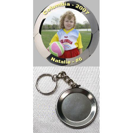 Button Keychain - 1.5 inch Example