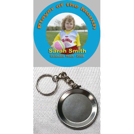 Button Keychain - 2.25 inch Example