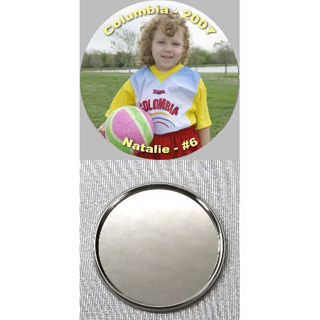 Button Mirror Back - 3 inch Example