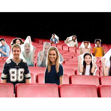 Fans in the Stands Cut-Outs Example