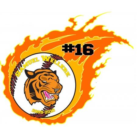 Flaming Wall Graphic Example