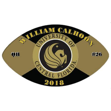 Football Plaque 16 Inch Example