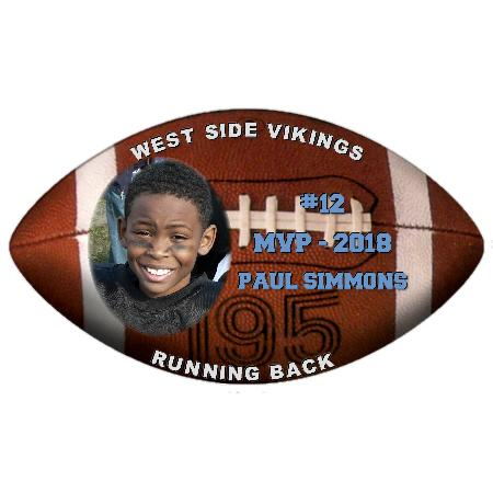 Football Plaque 8 Inch Example