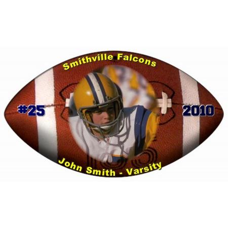 Football ReStickable Decal Example
