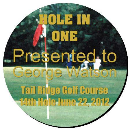 Golf Plaque 16 Inch Example