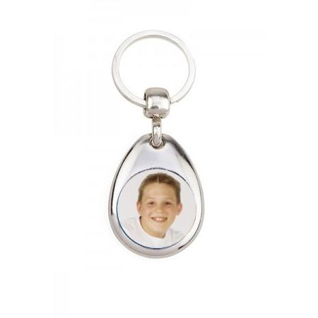 Keychain Metal - Oval Example