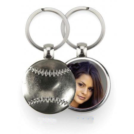 Keychain Metal - Softball Example