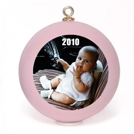 Photo Ornaments - Pink Example