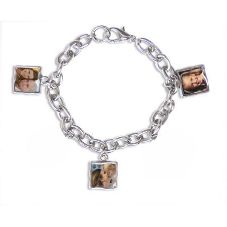 Photo Bracelet 3 Charm Example