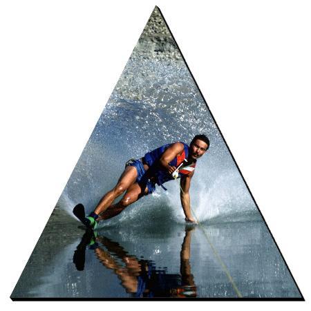 Photo Plak 6 Inch Triangle Example