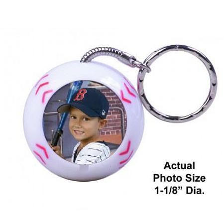 Photo Sport Ball Keychain Example