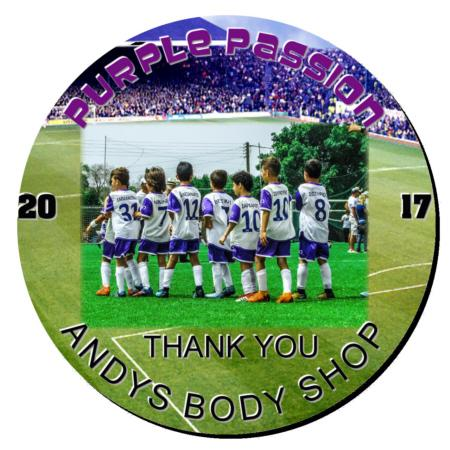 Soccer Plaque 8 Inch Example
