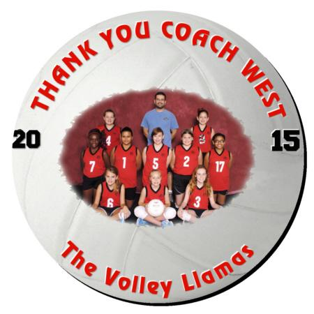 Volleyball Plaque 8 Inch Example