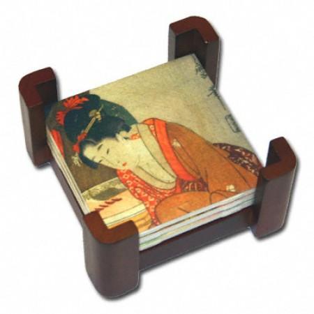 Wood Coaster Rack Example