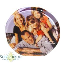 Acrylic Plaque - Round 6 inch Example