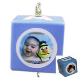 Baby Block Photo Ornaments - BLUE Example