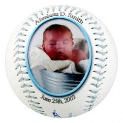 Photo Baseball - Blue Threads Example