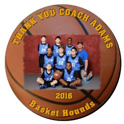 Basketball Plaque 12 Inch Example