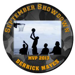 Basketball Plaque 16 Inch Example