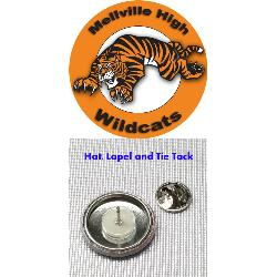 Button Hat-Lapel Pin - 1 inch Example
