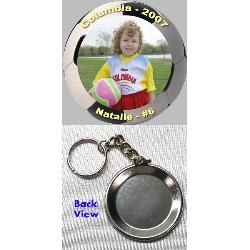 You Choose Basketball Keyring 1.5 Inch Button Charm with Name and Number