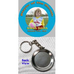 Button Keychain - 3 inch Example