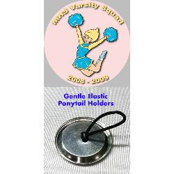 Button Ponytail Holder - 1.5 inch Example