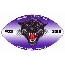 Football Window Decals Example