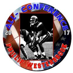 Football Round Plaque 12 Inch Example