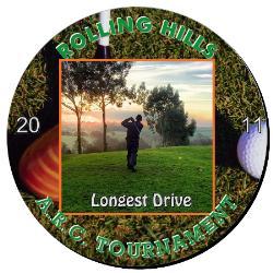 Golf Plaque 12 Inch Example