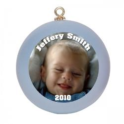Photo Ornaments - Baby Blue Example