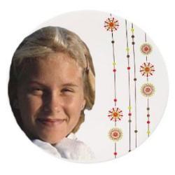 Porcelain Coaster - Round Example