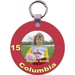 Sports Key Tag - Round Example
