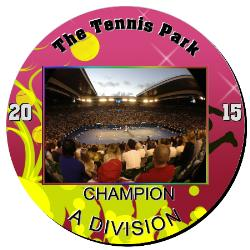 Tennis Plaque 12 Inch Example