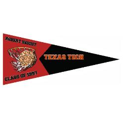 Wall Pennant - Outdoor 12x30 Example