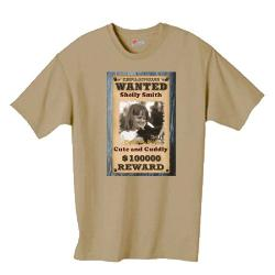 Wanted Shirt Example
